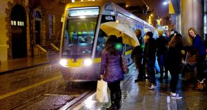 Throughout the day, Luas management tweeted about delays of between 15 and 20 minutes on both the Red and Green lines. File photograph: David Sleator/The Irish Times