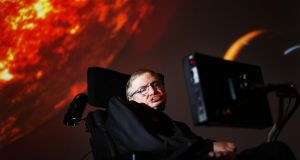 Prof Stephen Hawking, who has died aged 76. Photograph: David Parry/PA Wire