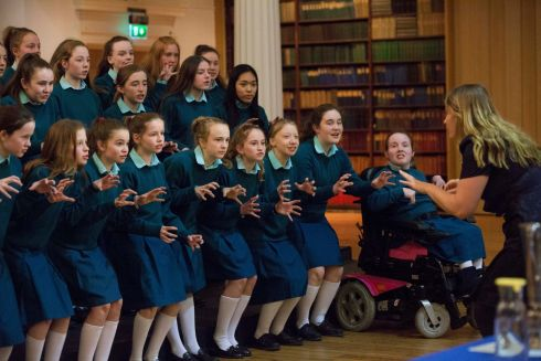 Abigail O'Neill of Mount Anville Junior Choir won the Youth Choir Two-Part pictured at ESB Feis Ceoil currently running at the RDS in Dublin until March 23rd.  Picture: Clare Keogh