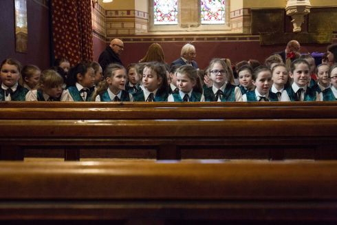 Choir members of Tullamore Stage Schoool at Saint Bartholomew's Church to perform. Picture: Clare Keogh