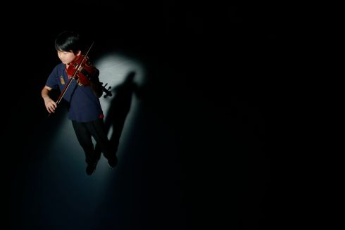 Kian Lee from Dundrum, Dublin was a competitor in the Junior Violin.  Photograph Nick Bradshaw