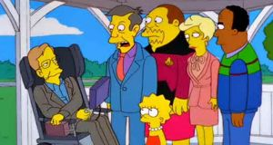 In 1999 Stephen Hawking made his way to Springfield for the episode They Saved Lisa's Brain.