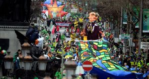'It will not be pleasant standing around watching a parade', a Met Éireann spokeswoman has warned. Photograph: Cyril Byrne/The Irish Times