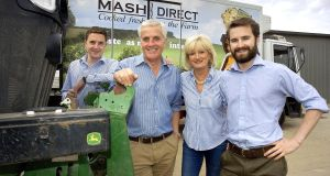 Lance, Martin, Tracy, and Jack Hamilton of Mash Direct, an independent, family-owned farming and food production enterprise