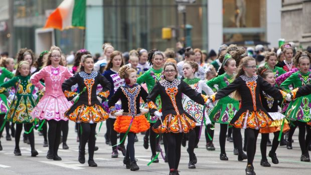 The biggest in the world ... New York's St Patrick's Day Parade on 5th Avenue. Photograph: Getty Images