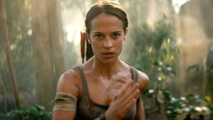 Alicia Vikander has worked hard on her abs, but she still looks far too wee and delicate to be a bad-ass Tomb Raider