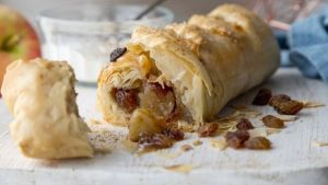 Apple & Cinnamon Strudel baked by Venessa Greenwood. Photograph: Harry Weir