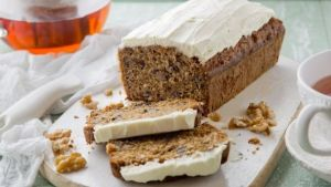 Guilt-free carrot cake. Photograph: Harry Weir Photography
