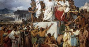 Painting by Joseph Court of the death of Julius Caesar.  Photograph:  Leemage/Corbis via Getty Images