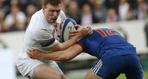 "England's Sam Simmonds has emphasised the importance of the breakdown battle.  ""It's frustrating, but it can only be improved by us. We know we have to be better at it.""  Photograph: Thomas Samson/AFP/getty"