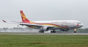 There will be four Hainan Airlines flights per week originating in Dublin, with two non-stop to Beijing and two stopping in Edinburgh before continuing to Beijing.