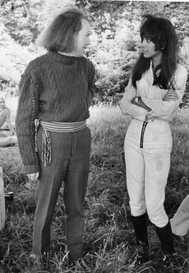 Garech Browne and Lady Cowley at Castletown House, Celbridge, Co Kildare, in 1968, where An Taisce organised a tour and a day of Irish music. Photograph: Tommy Collins