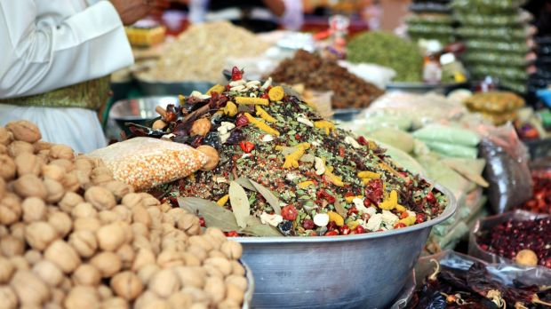 Visit a souk in Muscat to buy spices and nuts