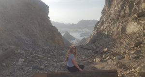 Co Clare native Aislinn Dillon on the Muttrah Geotrek in Muscat