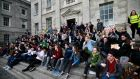The students are demanding that proposed supplemental examination fees be scrapped; affordable rental options be introduced and that student fees not be increased. Photograph: Nick Bradshaw