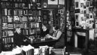 James Joyce chatting with Shakespeare & Co bookstore owner Sylvia Beach  & Adrienne Monnier. Photograph: Gisele Freund/Time & Life Pictures/Getty Images