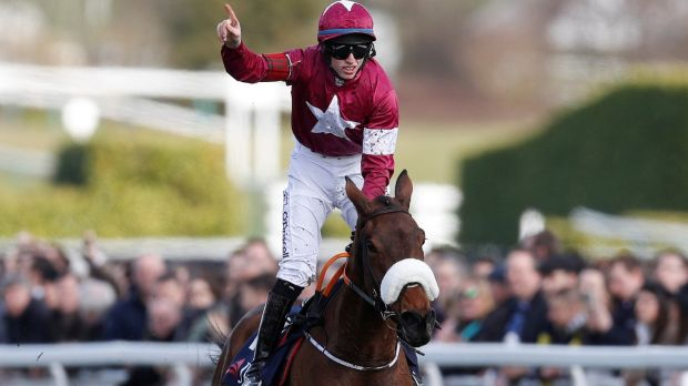 Jack Kennedy and Shattered Love take the day three opening JLT at Cheltenham. Photograph: Darren Staples/Reuters