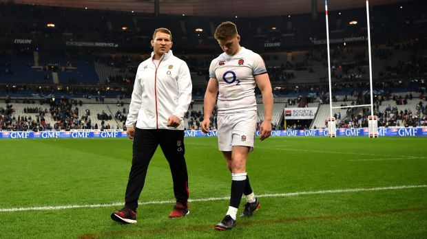 Dylan Hartley takes the England captaincy back off Owen Farrell. Photograph: Dan Mullan/Getty