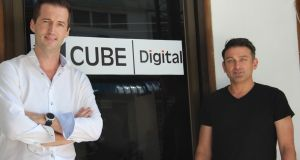"Keiran Rabbitt and Karim Ainsworth of Cube Digital: ""There are some big global brands – Grab and Uber – that have already come in in the last six months, and some smaller Myanmar digital developers are cutting their teeth. But there's no one grabbing the mass market with something that's relevant and localised,"" says Rabbitt"