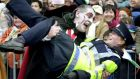 Drac taking  the law into his own hands during the Dublin St Patrick's Day parade.  Photograph: Alan Betson