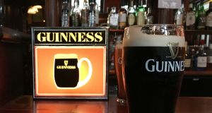With up to 7.5 million pints of Guinness expected to be downed on St Patrick's Day alone, the Diageo-owned brand was estimated to be worth €2.1 billion in 2017. Photograph: Bryan O'Brien