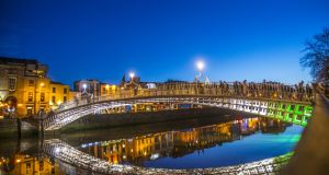 Ha'penny Bridge, Dublin: more expensive than London to live in due to the strength of the euro and weaker sterling.