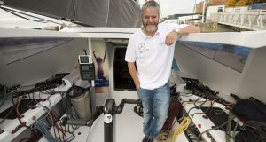Enda O'Coineen: preparing to cross the equator and still another month away from finishing his Vendee Globe single handed race. Photograph: Dara Mac Donaill / The Irish Times