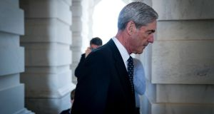 Robert Mueller, the special counsel investigating Russian interference in the 2016 election, pictured last year on Capitol Hill in Washington. Photograph: Doug Mills/The New York Times