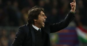 Antonio Conte: looks unlikely to be at the helm at Stamford Bridge next season following a disappointing year for the champions. Photograph: Susana Ver/Reuters