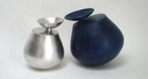 Cecilia Moore, Wah Wah in silver with Big Blue Wah Wah, 2017