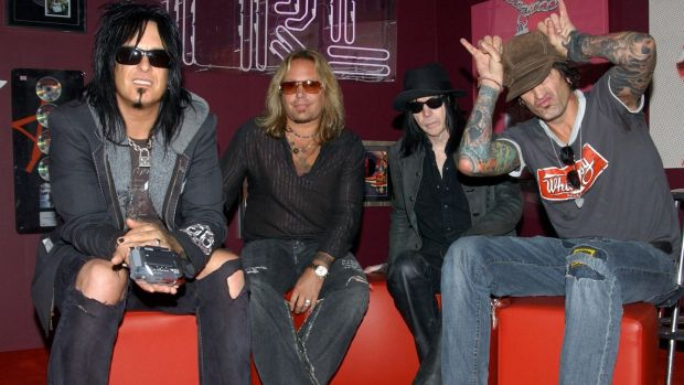 Motley Crue on MTV in 2005. Photograph: Anthony Harvey/PA