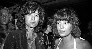 Jimmy Page and Pamela Des Barres, 1973. Photograph: Michael Ochs Archives/Getty Images