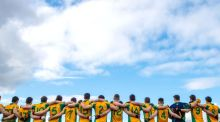 Corofin line out for their semi-final win against Moorefield in the  All-Ireland Senior Football Club Championship semi-final at Bord na Mona O'Connor Park in Tullamore, Co Offaly, in February. Photograph: James Crombie/Inpho