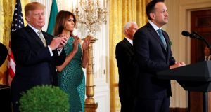 US president Donald Trump and first lady Melania Trump host Taoiseach Leo Varadkar at the White House: relating his involvement in a planning issue on behalf of Donald Trump was bonkers. Photograph: Jonathan Ernst