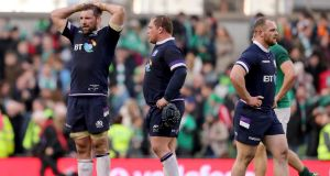 Scotland's title hopes slipped through their fingers last week in Dublin, but John Barclay, left, insists the mistakes which cost them have been put to bed. Photograph: Dan Sheridan/Inpho