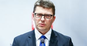 "Marcin Warchol:  ""It isn't for the [CJEU] to decide whether or not reforms in this country are consistent with the rule of law or not, it's completely out of its scope"". Photograph:  Karol Serewis/Gallo Images Poland/Getty Images"