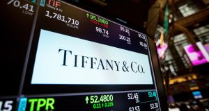 Tiffany & Co's shares tumbled in New York after the jeweller's latest set of quarterly same-stores sales fell short of expectations and the company said it was investing heavily to turn around its business. Photograph: Bloomberg
