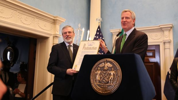 New York Mayor slammed by IRA victim after declaring 'Gerry Adams Day'