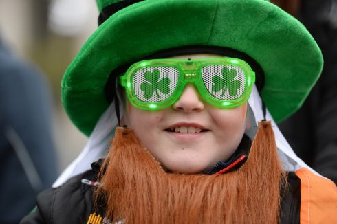 Caolan McKenna from Tyrone at the St Patrick's Festival parade in Dublin. Photograph: Dara Mac Donaill / The Irish Times