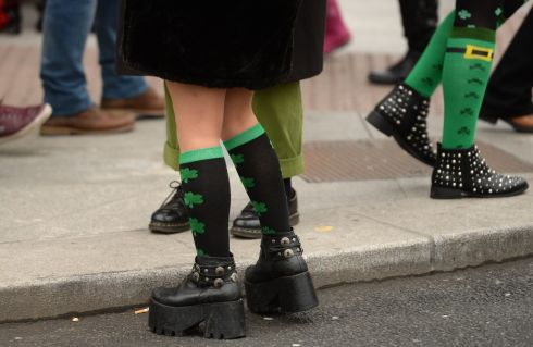 The St Patrick's Festival parade in Dublin. Photograph: Dara Mac Donaill