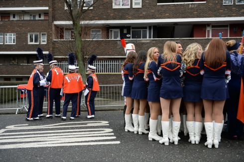 University of Illinois, Marching Illini, at the St Patrick's Festival parade in Dublin. Photograph: Dara Mac Donaill