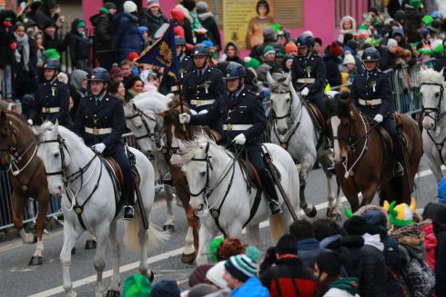 The St Patrick's Day parade in Dublin. Photograph: Nick Bradshaw