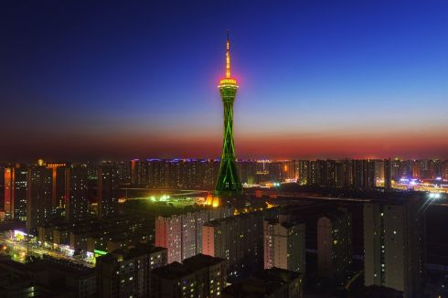 The Zhongyuan Tower, Zhengzhou, Henan Province (China). Photograph: ZanYangXin