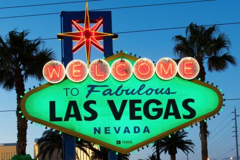 The iconic Welcome to Fabulous Las Vegas sign. Photograph: Sam Morris/Las Vegas News Bure
