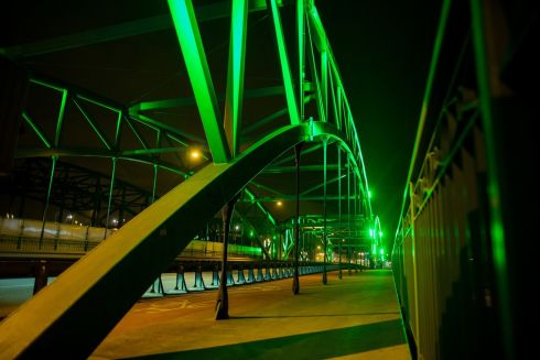 The Kosciuszki Street Bridge, Gdansk (Poland). Photograph: Dominik Paszliński