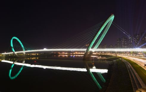 The Nanjing Eye (pedestrian bridge), Nanjing (China). Photograph: Tourism Ireland
