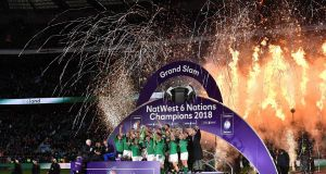 Ireland - Triple Crown, Six Nations and Grand Slam champions 2018. Photograph: Getty Images