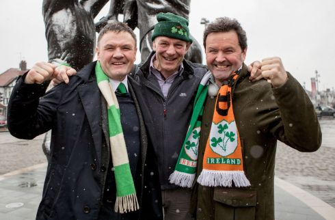 Denis Lavery, Alistar Stuart and Steve Lavery from Donegal. Photograph: Inpho