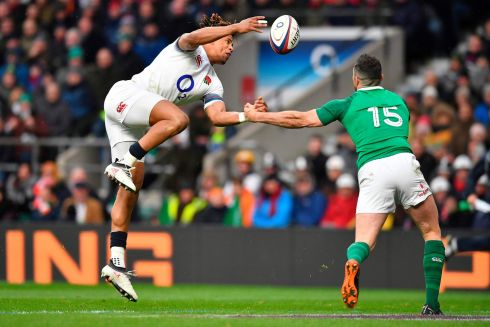 <b>15. Rob Kearney 8</b> Broke even with Anthony Watson to create the Ringrose try. Superb defence – a guaranteed Watson try on 24 minutes was denied by the intervention of Ireland's greatest ever fullback. Photograph: Getty Images