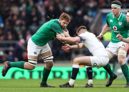 <b>5. Iain Henderson 8</b> Huge numbers – 15 tackles only topped by Leavy – supported the decision to drop Devin Toner but it was the Ulster man's raw aggression, unmatched by any English man, that makes his contribution so memorable. Photograph: Inpho
